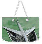 1956 Buick Riviera Hood Ornament Weekender Tote Bag