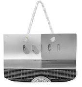 1956 Buick Special Hood Ornament - Emblem -0538bw Weekender Tote Bag