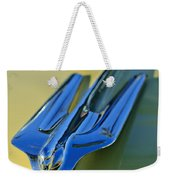 1956 Cadillac Hood Ornament Weekender Tote Bag
