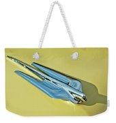 1956 Cadillac Sedan Deville Hood Ornament 2 Weekender Tote Bag by Jill Reger