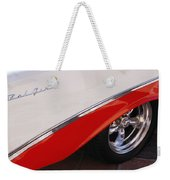 1956 Chevrolet Belair Convertible Wheel Weekender Tote Bag