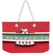 1956 Ford Thunderbird Emblem Weekender Tote Bag