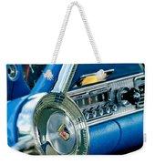 1956 Ford Thunderbird Steering Wheel And Emblem Weekender Tote Bag