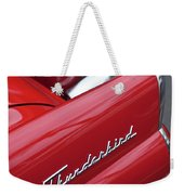 1956 Ford Thunderbird Taillight Emblem 2 Weekender Tote Bag