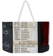 1956 One Room School House Recitation Program Weekender Tote Bag
