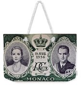 1956 Princess Grace Of Monaco Stamp II Weekender Tote Bag