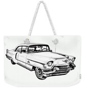 1956 Sedan Deville Cadillac Car Illustration Weekender Tote Bag