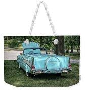 1957 Bel Air  Blue Convertible  Weekender Tote Bag