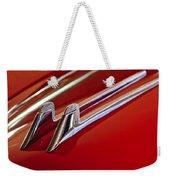 1957 Cadillac Eldorado Biarritz Hood Ornament Weekender Tote Bag