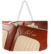 1957 Chevrolet Bel Air Seats Weekender Tote Bag