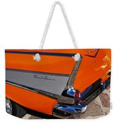 1957 Chevrolet Belair Coupe Tail Fin Weekender Tote Bag