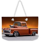 1957 Chevrolet Stepside Pickup L Weekender Tote Bag