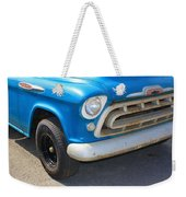 1957 Chevy - Chevrolet Pickup Grille And Logos Weekender Tote Bag