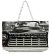 1957 Chevy Quote Weekender Tote Bag