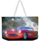 1957 Corvette Hot Rod Weekender Tote Bag