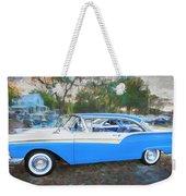 1957 Ford 2 Door Fairlane C130 Weekender Tote Bag