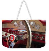 1957 Ford Fairlane Steering Wheel Weekender Tote Bag