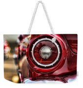 1957 Ford Thunderbird Red Convertible Weekender Tote Bag