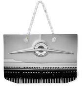 1957 Pontiac Safari Emblem -0737bw Weekender Tote Bag