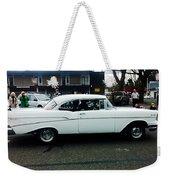 1957 White Chevy Weekender Tote Bag