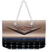 1958 Cadillac Eldorado Barritz Emblem Weekender Tote Bag