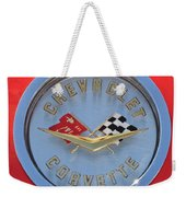 1958 Chevrolet Corvette Emblem Weekender Tote Bag
