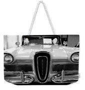 1958 Edsel Pacer Black And White Weekender Tote Bag