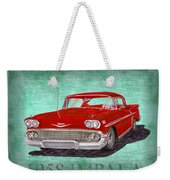 1958 Impala By Chevrolet Weekender Tote Bag