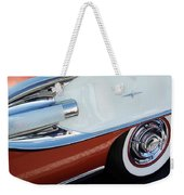 1958 Pontiac Bonneville Wheel Weekender Tote Bag