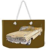 1959 Chevrolet Impala Convertible Weekender Tote Bag