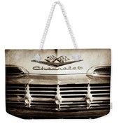 1959 Chevrolet Impala Grille Emblem -1014s Weekender Tote Bag