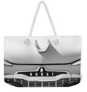 1959 Dodge Coronet Emblem - Hood Ornament -0903bw Weekender Tote Bag