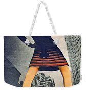 1960 70 Fashion Shot Of Female Model In Usa Weekender Tote Bag