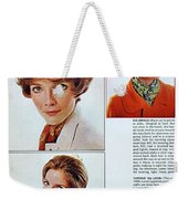 1960 70 Stylish Female Hair Styles Brown Mature Lady Weekender Tote Bag