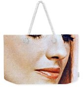 1960 70 Stylish Lady In Red Weekender Tote Bag