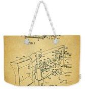 1960 Bulldozer Patent Weekender Tote Bag