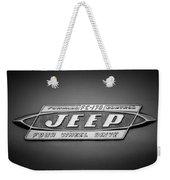 1960 Forward Control Jeep Fc-170 Emblem -1669bw Weekender Tote Bag