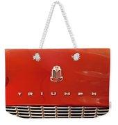 1960 Triumph Tr3 Emblem Weekender Tote Bag