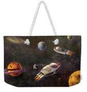 1960s Outer Space Adventure Weekender Tote Bag