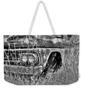 1961 Chevrolet Apache 10 Black And White 4 Weekender Tote Bag