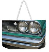 1961 Pontiac Catalina Grille With Headlights And Logo Weekender Tote Bag