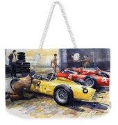 1961 Spa-francorchamps Ferrari Garage Ferrari 156 Sharknose  Weekender Tote Bag