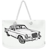 1961 Studebaker Hawk Coupe Illustration Weekender Tote Bag