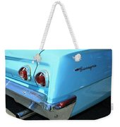 1962 Chevy - Chevrolet Biscayne Logos And Tail Lights Weekender Tote Bag