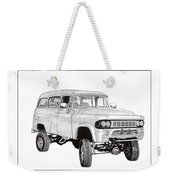 1962 Dodge Powerwagon Weekender Tote Bag