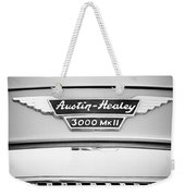 1963 Austin-healey 3000 Mk II Black And White Weekender Tote Bag