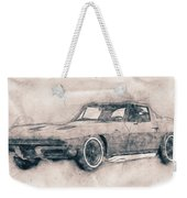 1963 Chevrolet Corvette Sting Ray - 1963 - Automotive Art - Car Posters Weekender Tote Bag