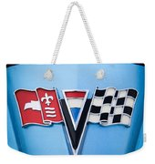 1964 Chevrolet Corvette Sting Ray Gm Styling Coupe Hood Emblem -0126c45 Weekender Tote Bag