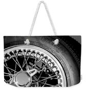 1964 Morgan 44 Spare Tire Black And White Weekender Tote Bag