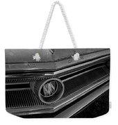 1965 Buick Hood Ornament B And W Weekender Tote Bag